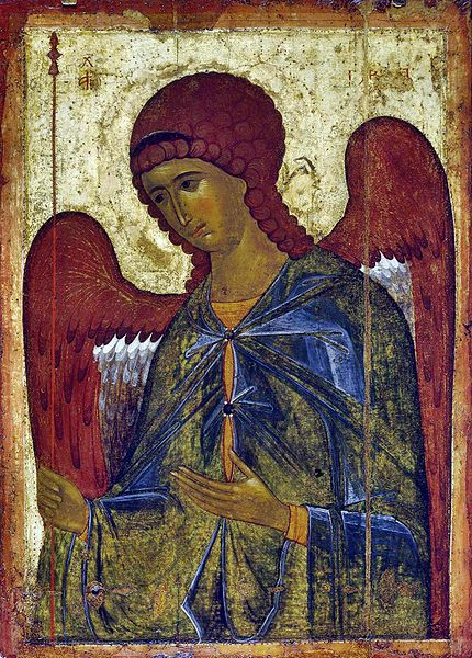 Byzantine painting of Archangel Gabriel